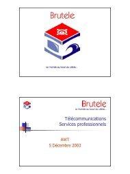 Brutélé: le monde au bout du câble (.PDF 202 k) - Awt