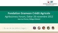 Fondation Grameen Crédit Agricole : une alliance unique - EMRC