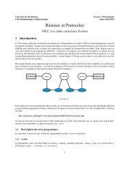 Réseaux et Protocoles - Université de Strasbourg
