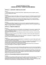 CODIGO DE ETICA Y DEONTOLOGIA MEDICA - Página 1 de cada 4