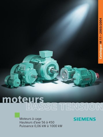 Catalogue général moteurs asynchrones Siemens - MIDI Bobinage