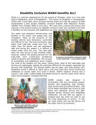 Disability-inclusive water, sanitation and hygiene – a case study - CBM