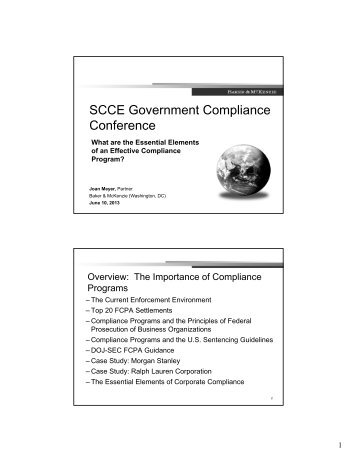 Joan E. Meyer presentation - Society of Corporate Compliance and ...