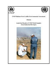 UNEP Balkans Post-Conflict Environmental Assessment Albania ...