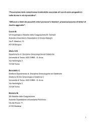 Relazione di Benilde Cosmi et al