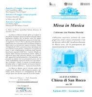 Missa in Musica - Diocesi di Alessandria