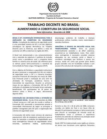 Veja a íntegra do comunicado distribuído pela OIT - Organização ...
