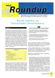 World Summit on Sustainable Development - NGLS