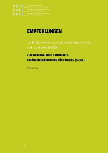 Empfehlungen als PDF farbig - SODK