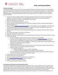 Roles and Responsibilities - University Research Administration