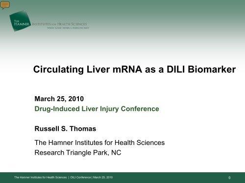 Circulating Liver mRNA as a DILI Biomarker - AASLD