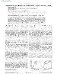 Atomistic processes during nanoindentation of amorphous silicon ...