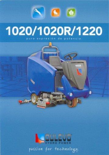 Hoja de especificaciones técnicas Dulevo 1020-1200