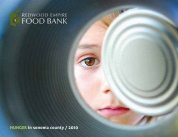 HUNGER in sonoma county / 2010 - Redwood Empire Food Bank