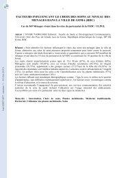 FACTEURS INFLUENCANT LE CHOIX DES SOINS AU NIVEAU ...