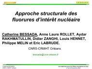 Fluorures d'intérêt nucléaire