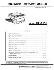 SERVICE MANUAL MODEL SF-1116 - diagramas.diagram...