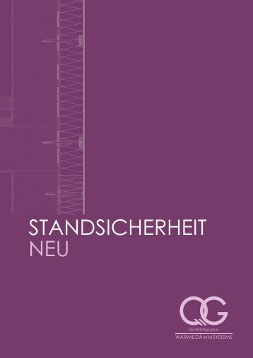 STANDSICHERHEIT NEU - Qualitätsgruppe Wärmedämmsysteme