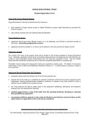 Angus Educational Trust Student Application Form - Angus Council