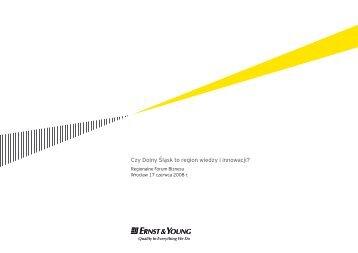 Czy Dolny Śląsk to region wiedzy i innowacji? - Ernst & Young