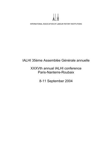 Conference report - International Association of Labour History ...