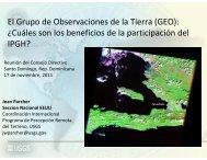 El Grupo de Observaciones de la Tierra (GEO) - Instituto ...
