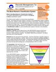 The Block-Numeric Classification System - Department of Public ...