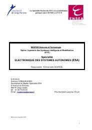 Brochure Master Recherche ESA - ENSEA