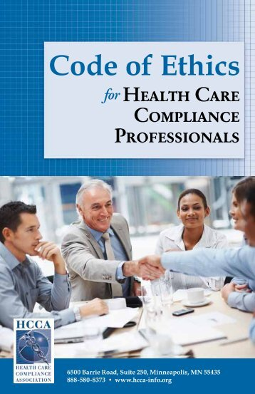 Code of Ethics - Health Care Compliance Association