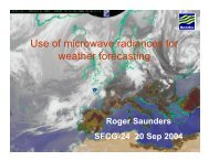 Use of microwave radiances for weather forecasting - SFCG