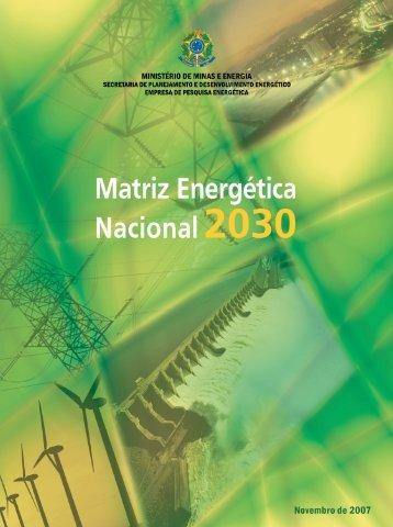 1. Recursos e Reservas Energéticas - Ministério de Minas