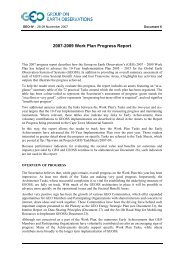 2007-2009 Work Plan Progress Report - Group on Earth Observations