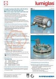 Lumiglas-Leuchten USL 05-Ex, USL 05-LED-Ex II 2G Ex d IIC T3/T4 ...