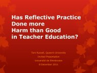 Has Reflective Practice Done more Harm than Good in Teacher ...