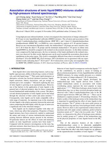 Association structures of ionic liquid/DMSO mixtures ... - ResearchGate