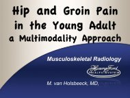 Hip and Groin Pain in the Young Adult