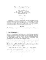 Polynomial Composition Rigidity and Plane Polynomial ...
