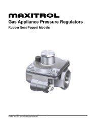 Gas Appliance Pressure Regulators
