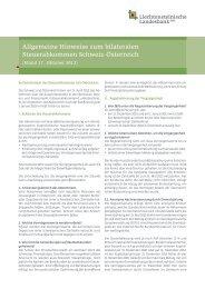 Allgemeine Hinweise zum bilateralen Steuerabkommen Schweiz ...