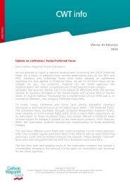 Update on Lufthansa/ Swiss Preferred Fares Dear Carlson Wagonlit ...