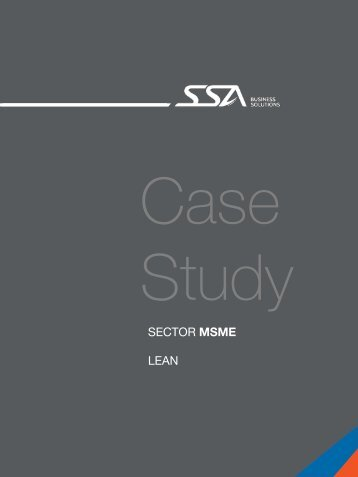 SECTOR MSME LEAN - SSA Solutions