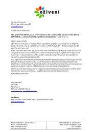 Dopis ministrovi pro místní rozvoj - Bezkorupce