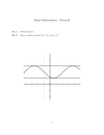 Bases Matemáticas – Prova II