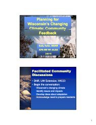Planning for Wisconsin's Changing Climate: Community Climate ...