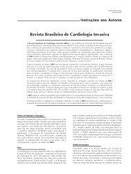 Instruções aos Autores - Revista Brasileira de Cardiologia Invasiva
