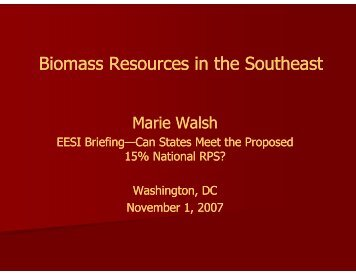 Biomass Resources in the Southeast