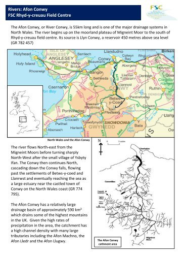 Further reading and background information on the Afon Conwy
