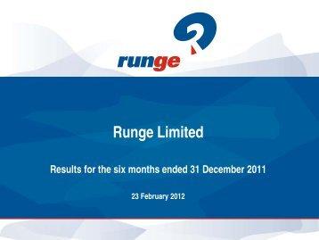 1H12 Results Presentation - Runge