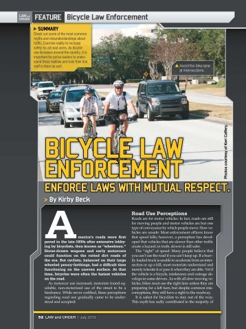 Bicycle Law Enforcement - Windermere Roadies
