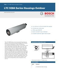 LTC 9384 Series Housings Outdoor - Bosch Security Systems